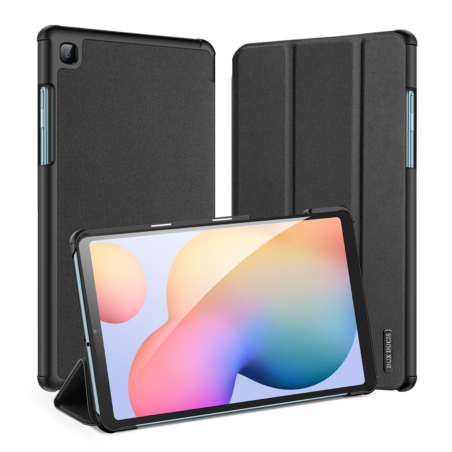 DUX DUCIS For Samsung Galaxy Tab S6 Lite Leather Shell Full Protection Smart Stay Case  black