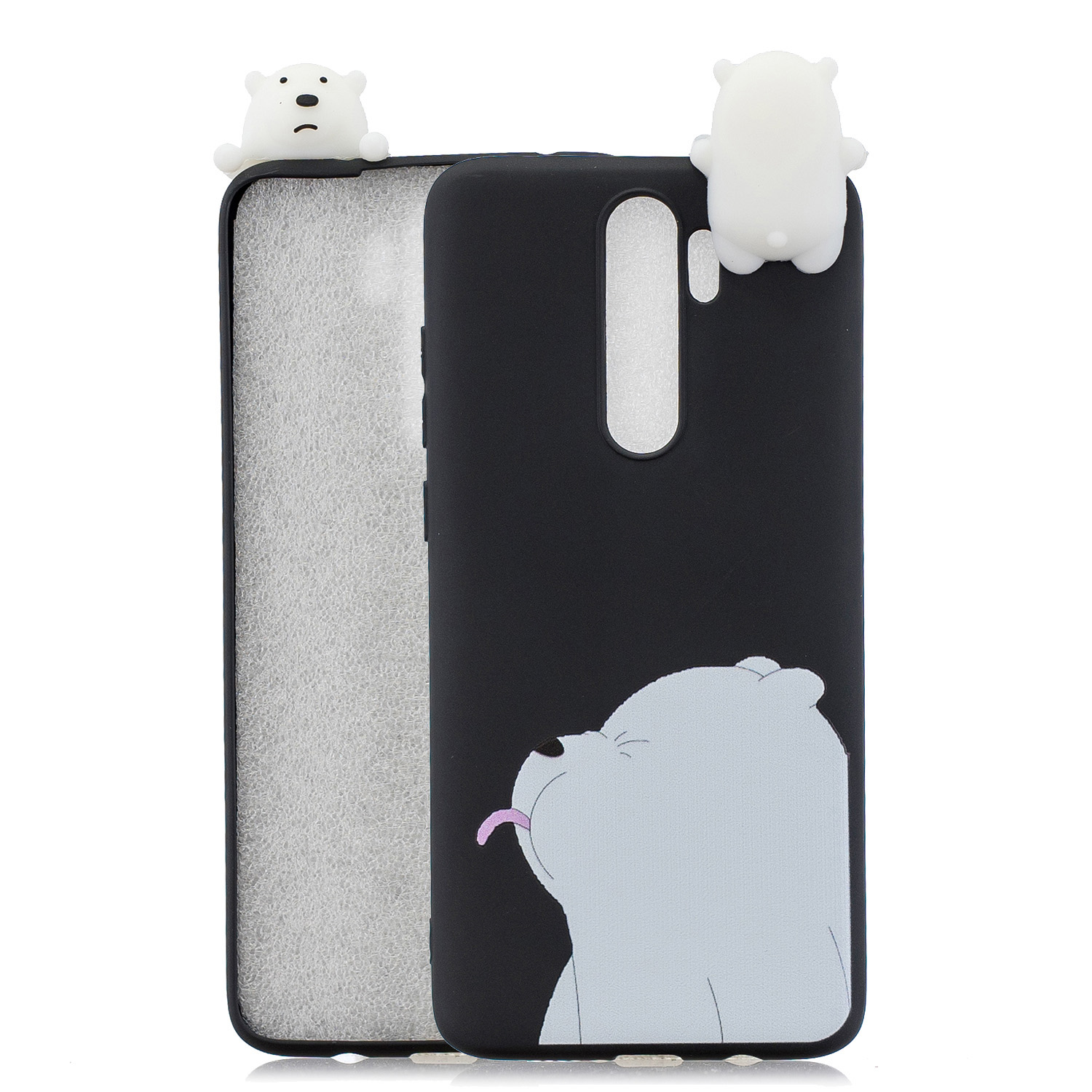 For Redmi NOTE 8 NOTE 8 pro 3D Color Painting Pattern Drop Protection Soft TPU Back Cover Mobile Phone Case black