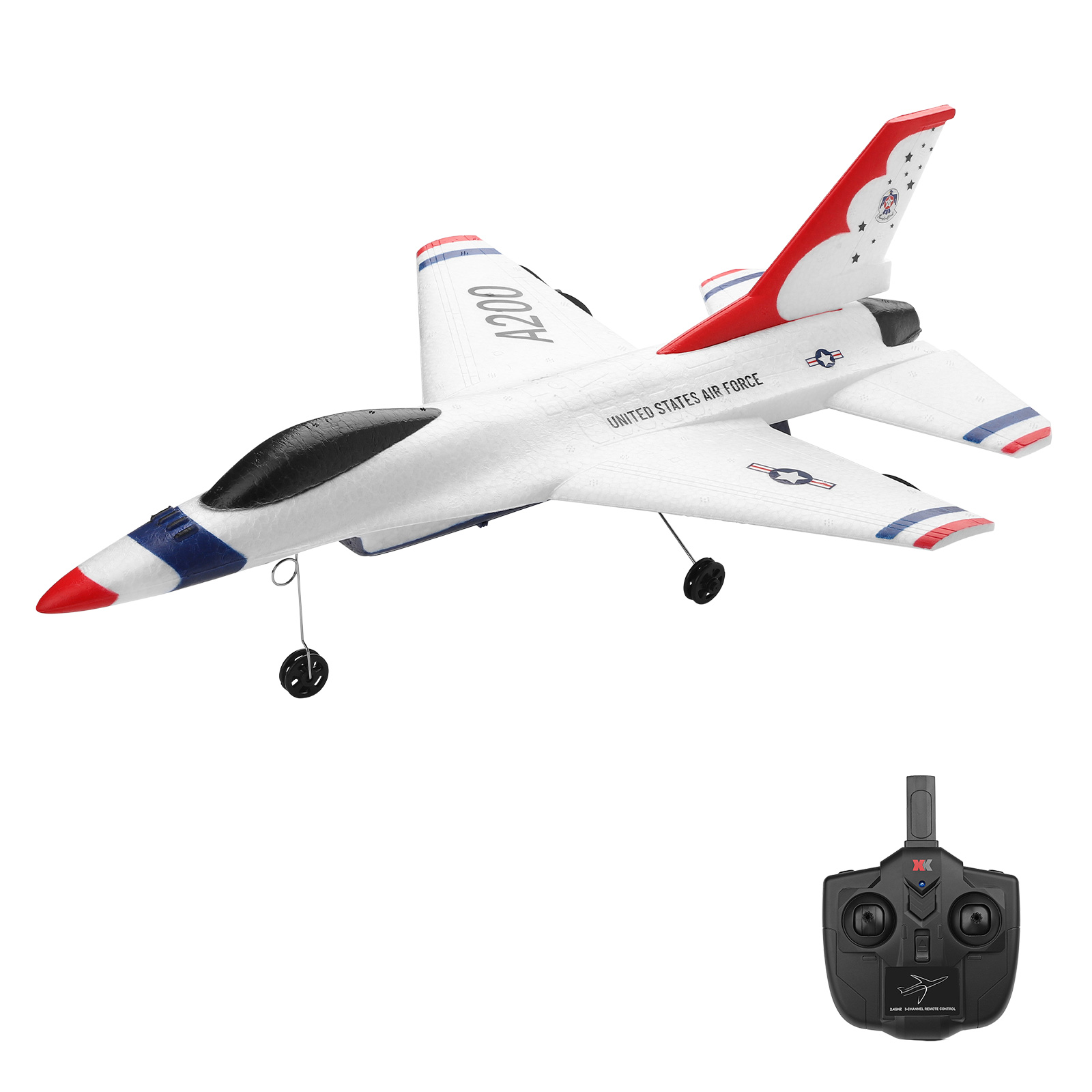 Xk  A200  F-16b Rc Airplane Drone  2.4g  2ch 12mins  Flight Time Fixed-wing Epp Electric Model  Building  Rtf  Outdoor Toys For Children a200