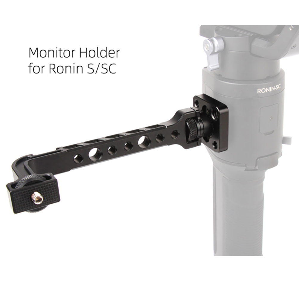 Monitor Mount for Ronin S SC Monitor Extension Stand 360 Degrees Adjustable Display Stabilizer  black