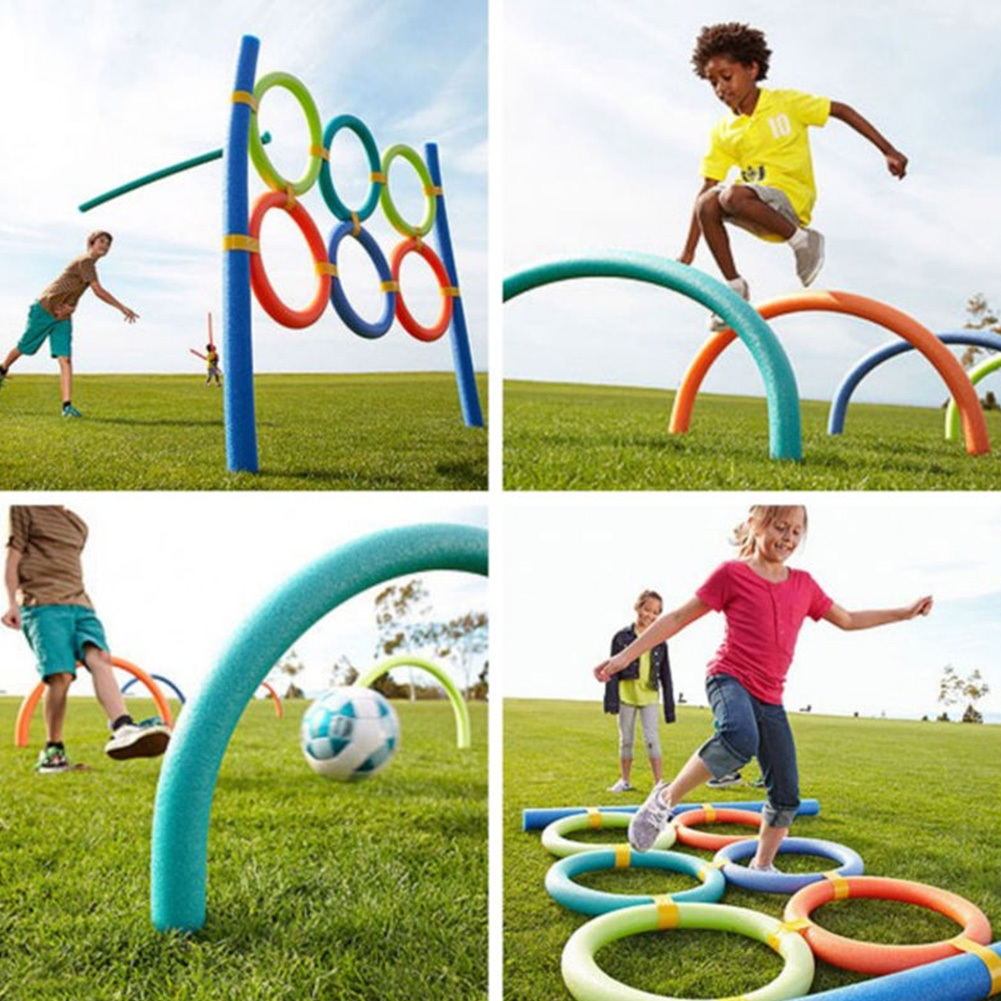 Flexible Colorful Solid Foam Pool Noodles Swimming Water Float Aid Woggle Noodles 3.8*120cm