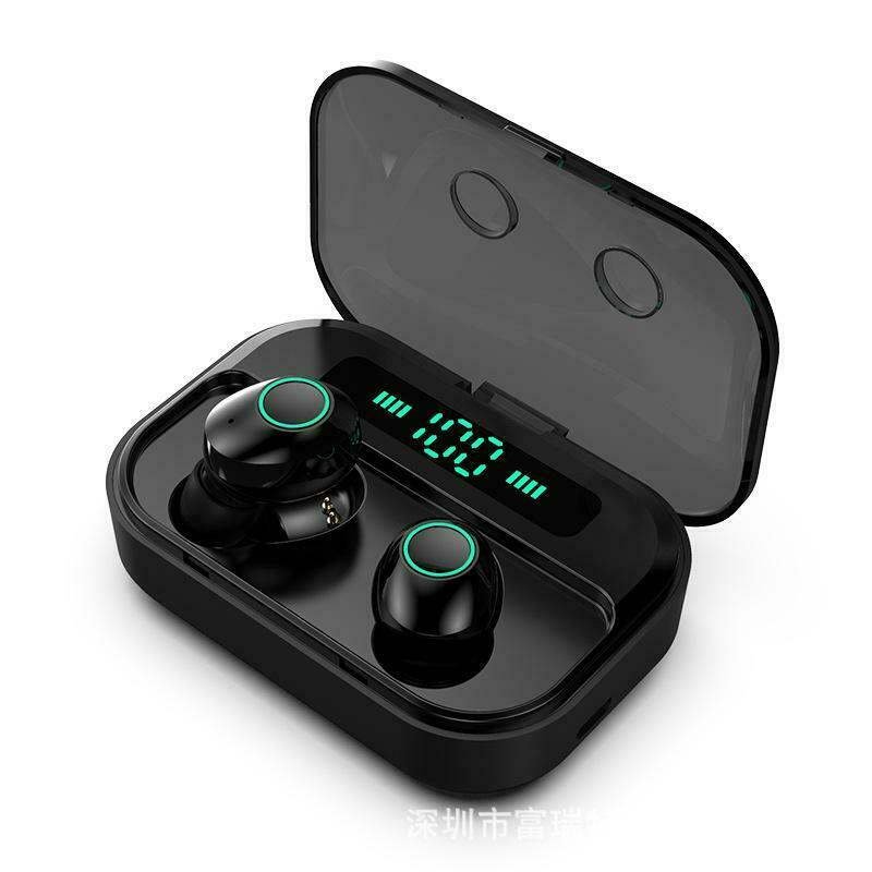 Bluetooth 5.0 Headset TWS Wireless Earphones Mini Earbuds Stereo Headphones Wireless Earphones black