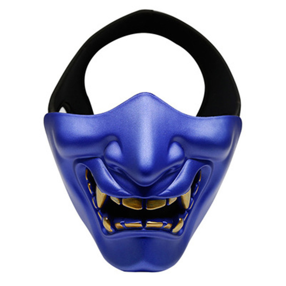 Half Face Mask Lower Face Protective Mask for Airsoft/Paintball/CS Game for Halloween Cosplay Costume Party Movie Prop blue