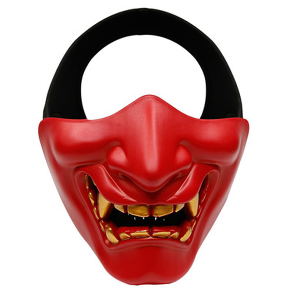 Half Face Mask Lower Face Protective Mask for Airsoft/Paintball/CS Game for Halloween Cosplay Costume Party Movie Prop red