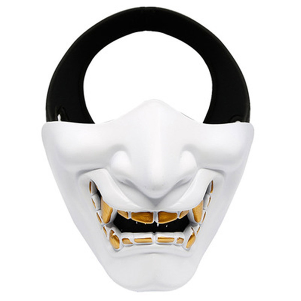 Half Face Mask Lower Face Protective Mask for Airsoft/Paintball/CS Game for Halloween Cosplay Costume Party Movie Prop white