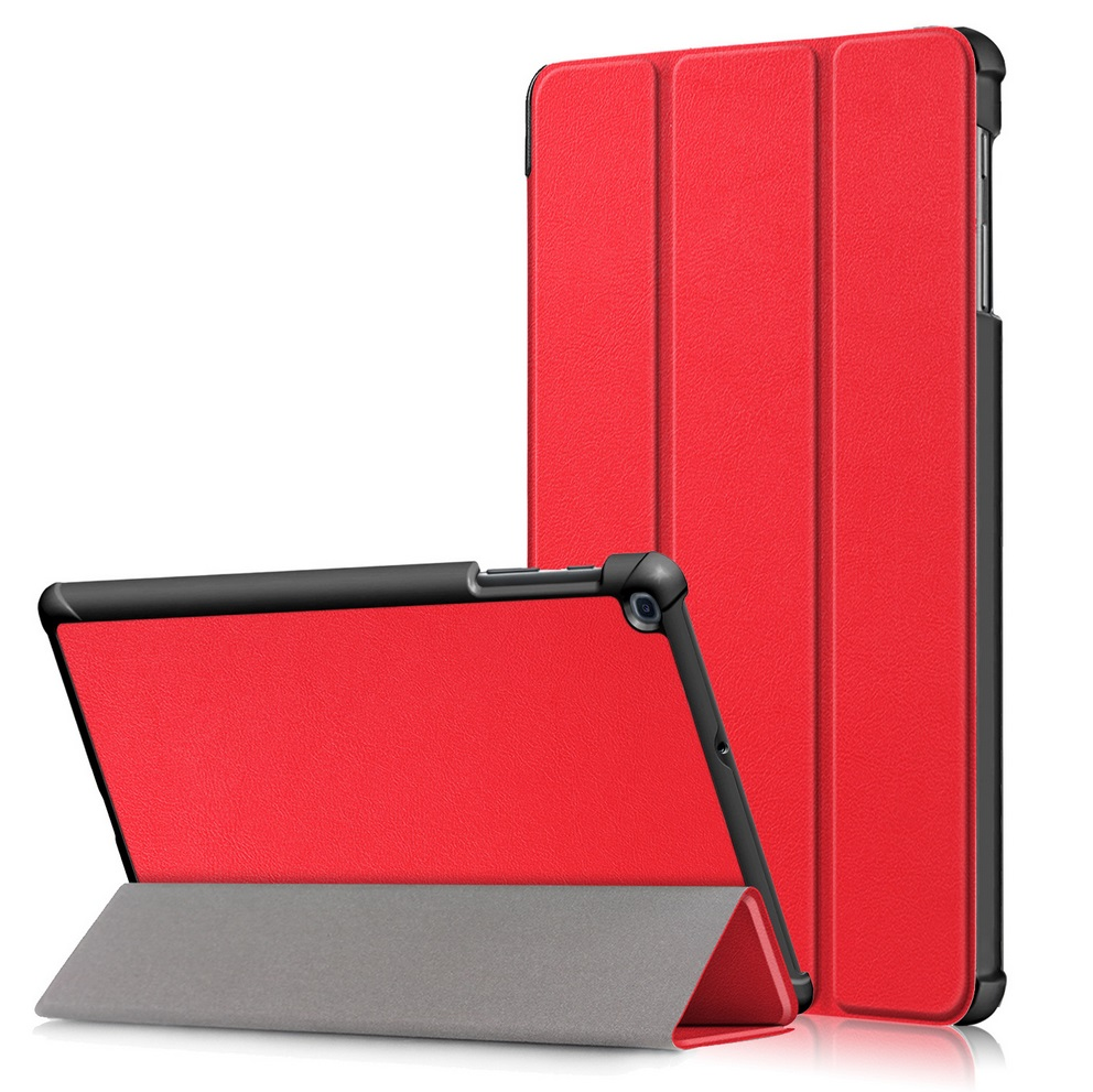 For Samsung Tab A 10.1 2019 T510 t515 Tablet PC Protective Case Flip Type red