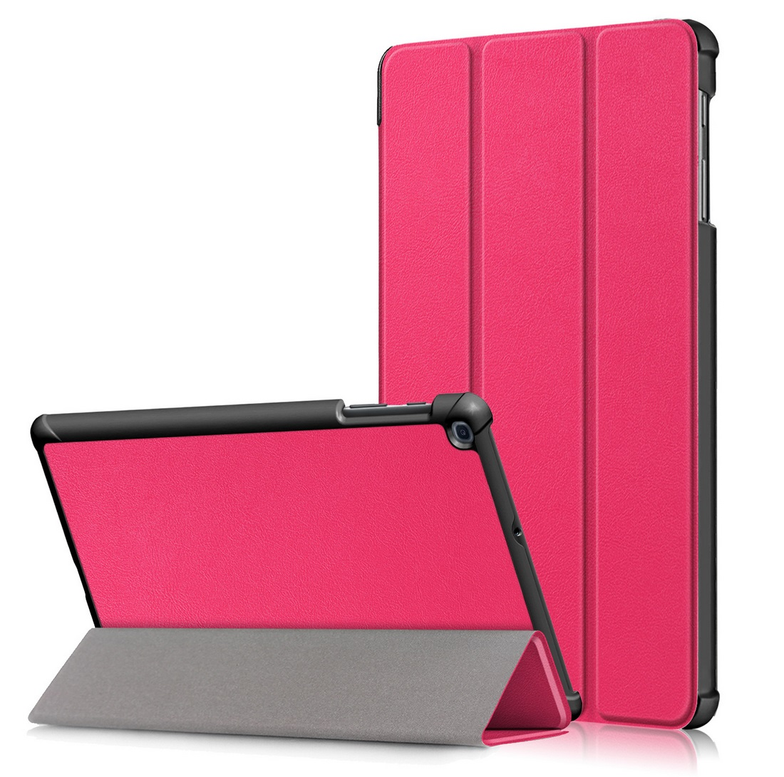 For Samsung Tab A 10.1 2019 T510 t515 Tablet PC Protective Case Flip Type rose Red