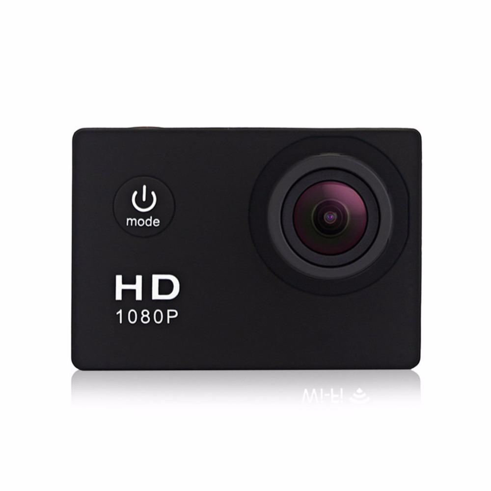 Outdoor Waterproof Sport Action Camera, 720P HD Cycling Mini Digital Video Camera Car Bike DVR Recorder with Monopod Black