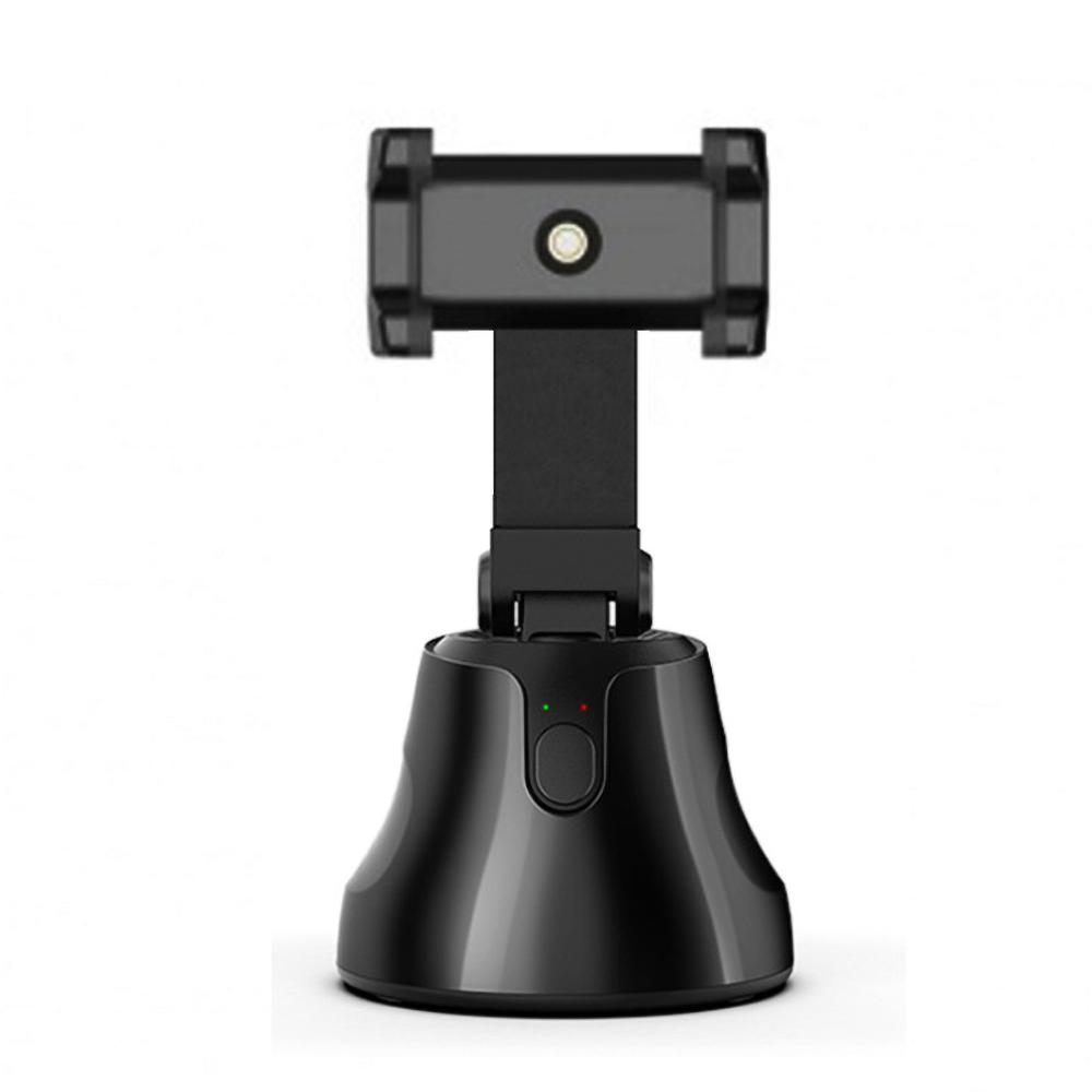 Auto Smart Shooting Selfie Stick 360 Rotation Auto Face Tracking Object Tracking vlog Camera Phone Holder black