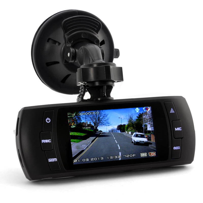 2.7 Inch Car DVR w/ GPS, G-Sensor, 120 Degree
