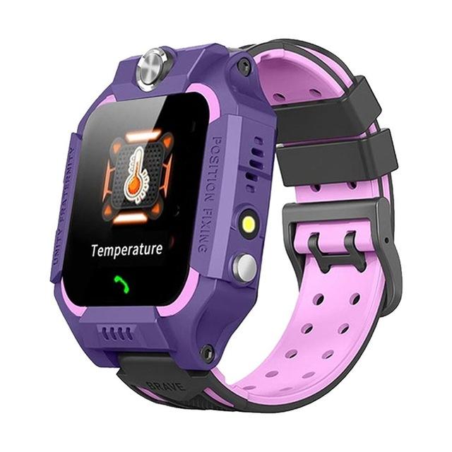 Kids Temperature Detection Smart Bracelet 1.44 Inches Color Touch Screen 400mah Remote Monitoring Intercom Watch purple