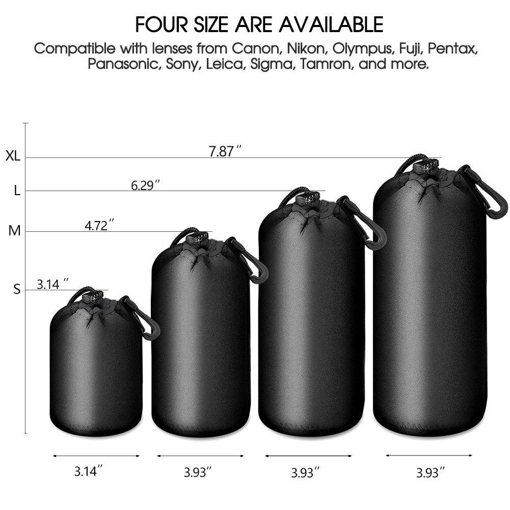 Portable Camera Lens Pouch Protector Bag DSLR Case  XL