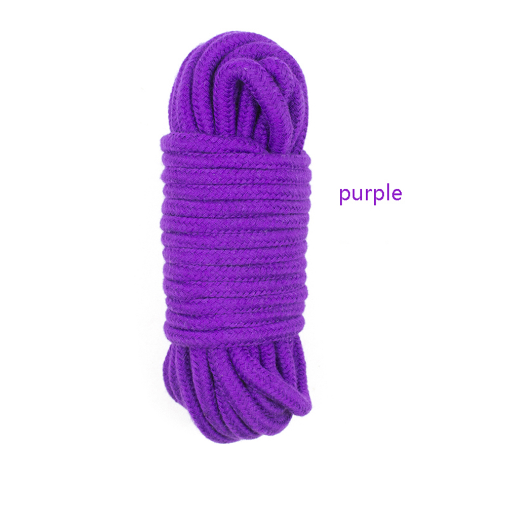 5/10M Bondage Rope Long Thick Cotton Bdsm Body Tied Ropes SM Slave Game Restraint Products Adult Sex Toys for Men Woman Couples purple