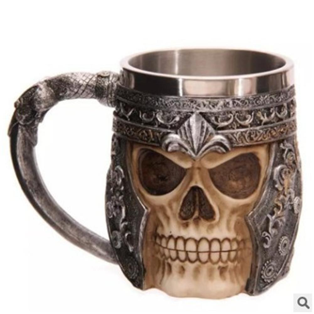 Three-dimensional Skull Print  Mug Drinking Cup Tableware Water Cup As shown_301-400ml