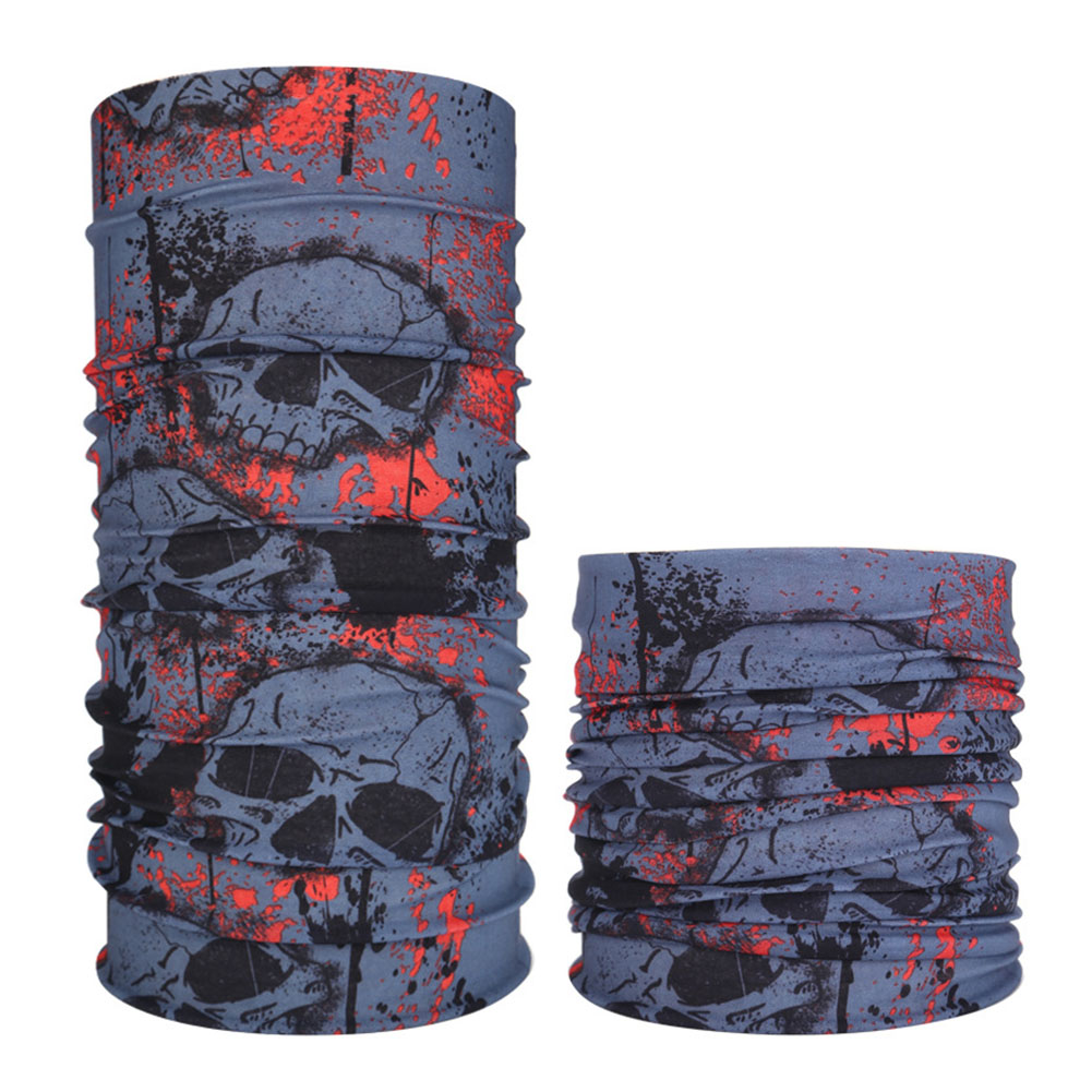 Multifunction Seamless Skull Pattern Magic Riding Mask Warm Scarf  Halloween Props 40#_25*50CM or so