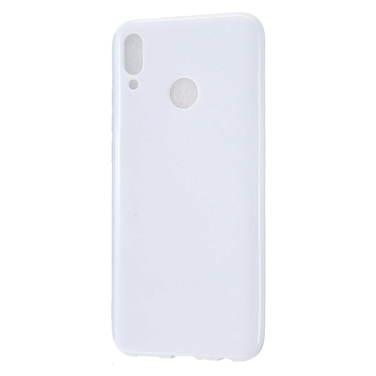 For HUAWEI Y9/Y9 Prime 2019 Cellphone Shell Glossy TPU Case Soft Mobile Phone Cover Full Body Protection Milk white