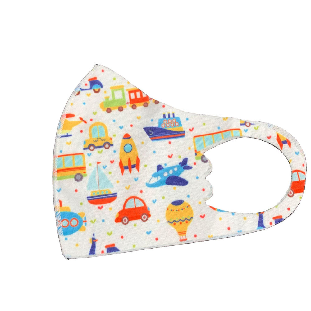 Children's Mask Dust Proof Breathable Washable Cartoon Print Hanging Ear Type Mask Car model_Packaging-already replaced
