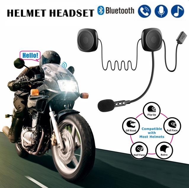 Bluetooth Helmet Headset Wireless Handsfree Stereo Earphone Motorcycle Helmet Headphones black
