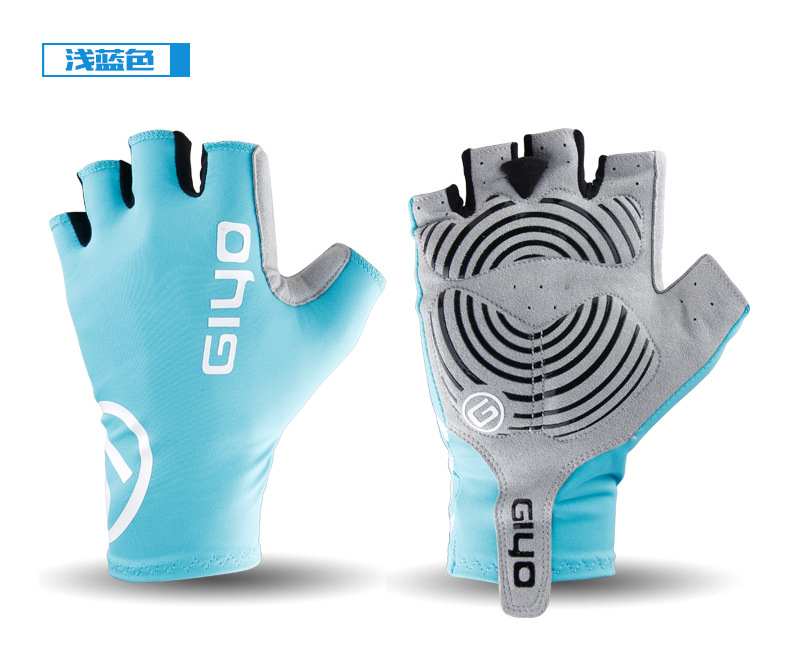 Giyo Cycle Half -finger Gloves Bicycle Race Gloves Of Bicycle Mtb Road Glove Light blue_M