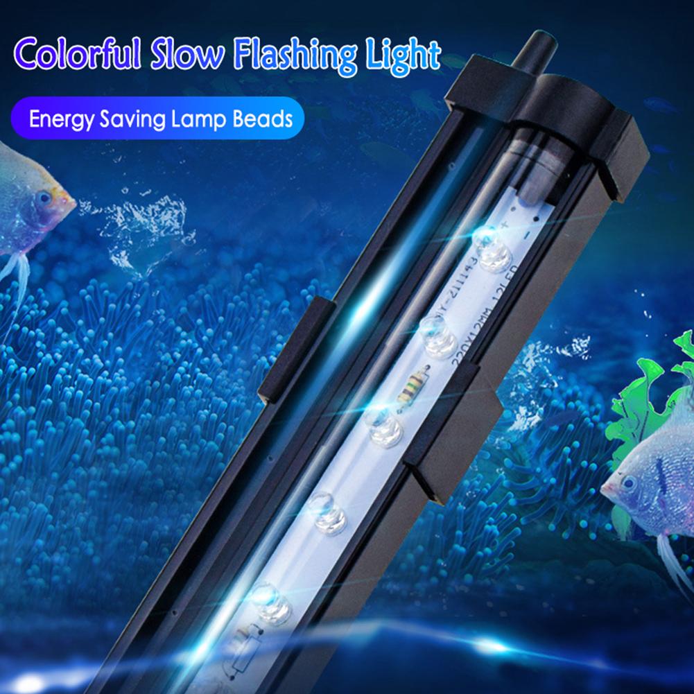 LED 7 Colors Change Aquarium Light Fish Bowl Submersible Light Air Bubble Lamp