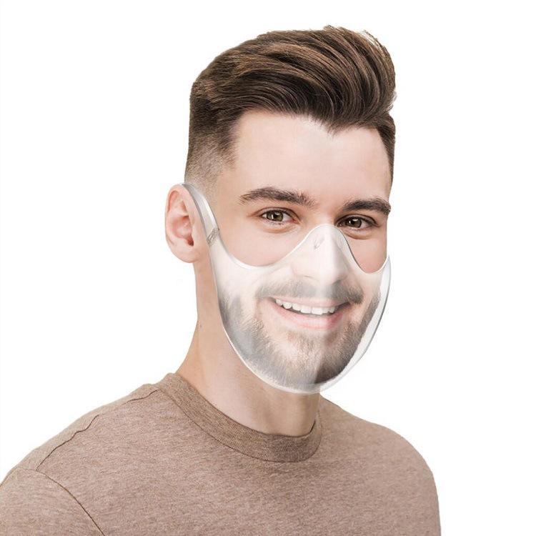 Pc Mask Anti-splash High-definition Transparent Protective Mask Transparent