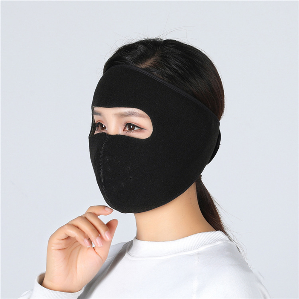 Motorcycle Cycling Ski Cold Winter Cold-proof Ear Warmer Sports Half Face Mask black_free size