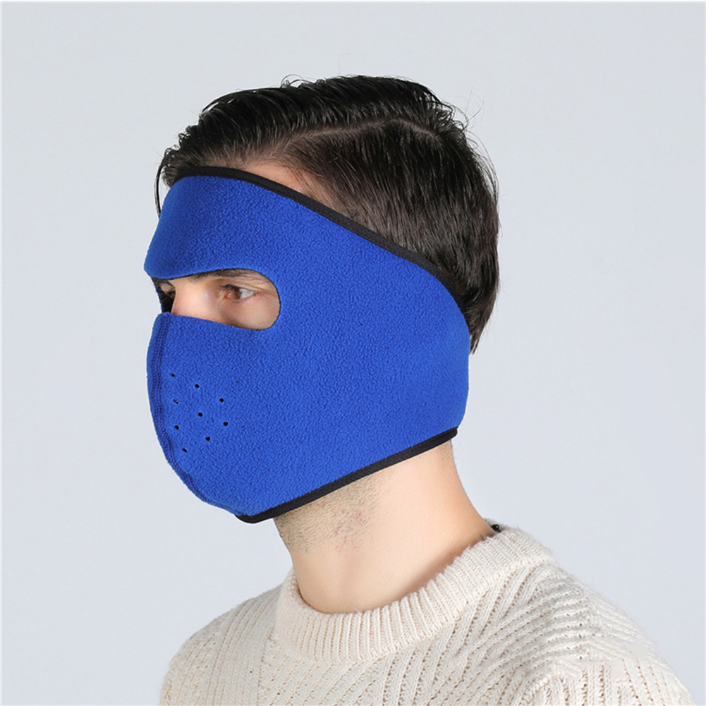 Motorcycle Cycling Ski Cold Winter Cold-proof Ear Warmer Sports Half Face Mask sapphire_free size