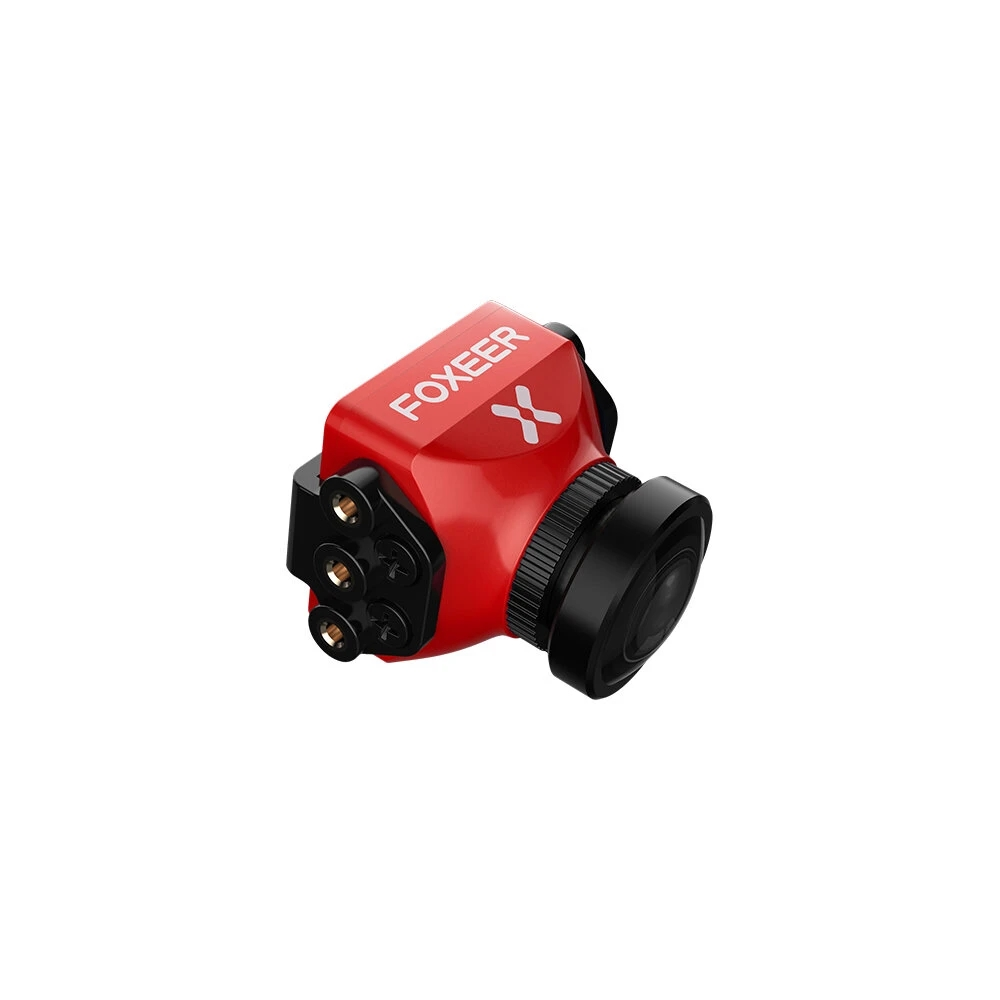 Foxeer Predator V5 FPV Camera Racing Drone Mini Camera16:9/4:3 PAL/NTSC switchable Super WDR OSD 4ms Latency Upgarded PredatorV4 Red 2.5MM