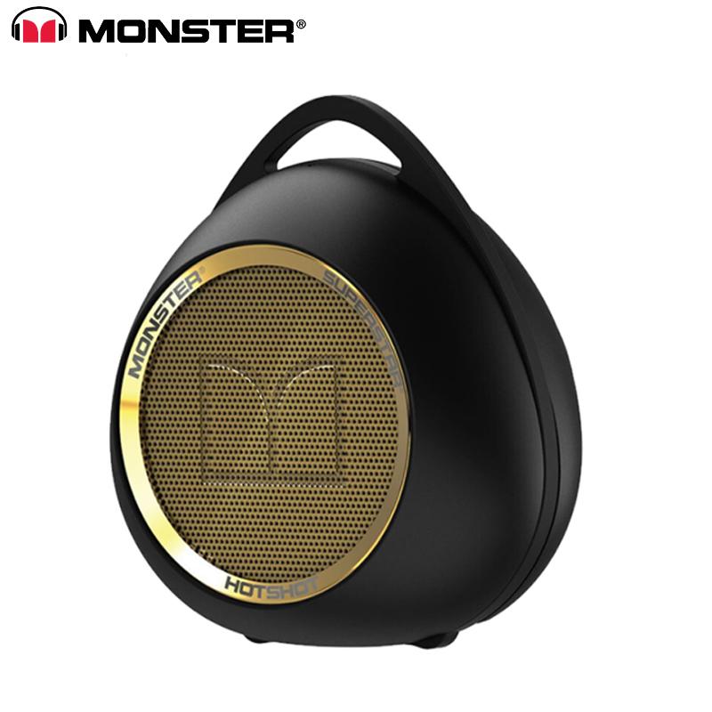 Wireless Bluetooth Speaker Stereo Soundbar Waterproof Loudspeaker with Mic Portable Speaker black gold