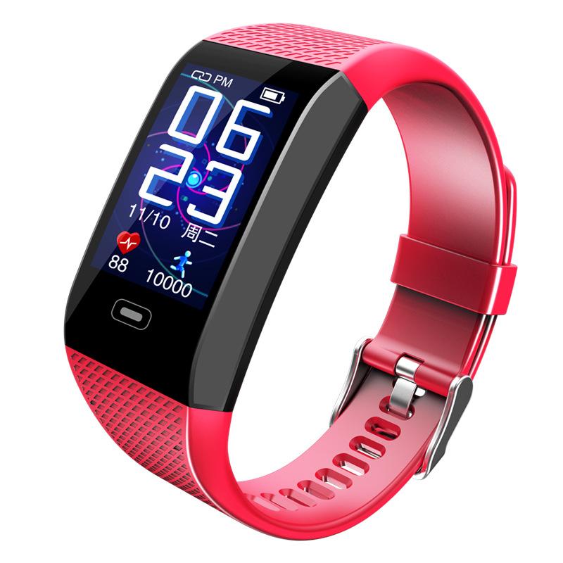 CK28 Smart Bracelet 1.14 Color Screen Heart Rate Blood Pressure Real-time Monitoring IP67 Waterproof red