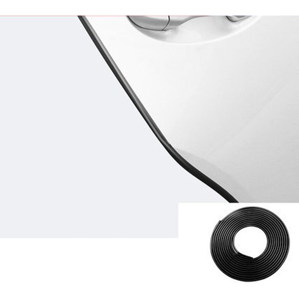 Universal Car Door Edge Guards Trim Styling Moulding Protection strip Scratch Protector For Car Vehicle Bright black_10 meters