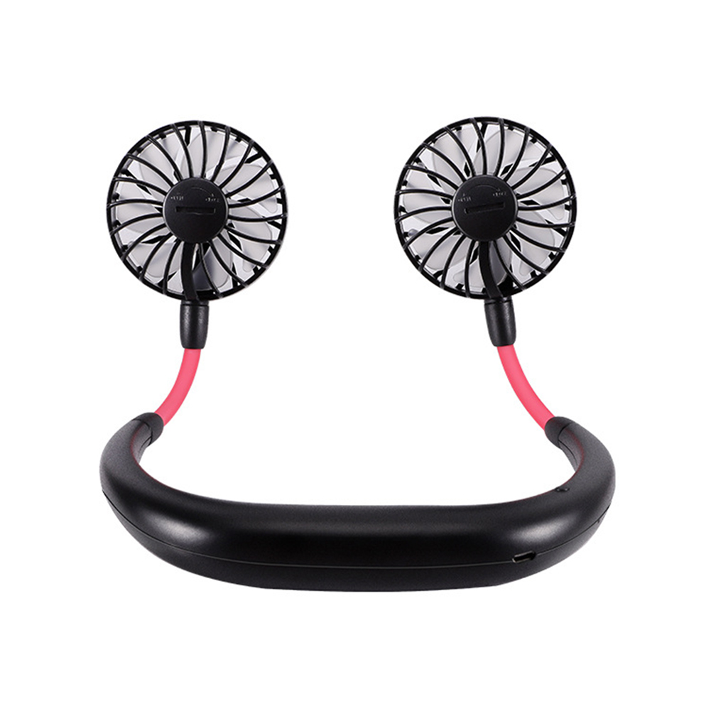 Usb Student Lazy Fan Charging Portable Cool Neck Fan Outdoor Travel Aromatherapy Fan black_260*180MM