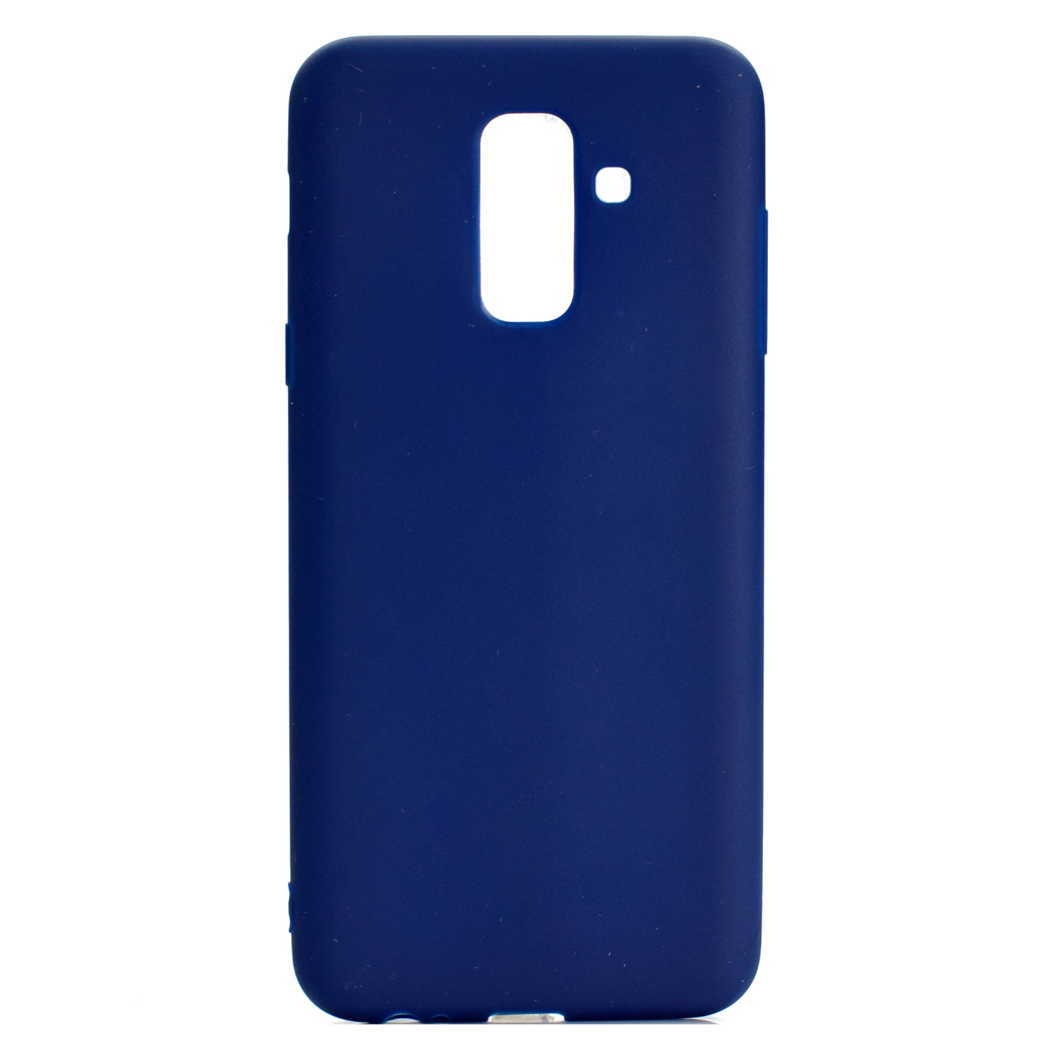 for Samsung A6 plus 2018 Lovely Candy Color Matte TPU Anti-scratch Non-slip Protective Cover Back Case Navy