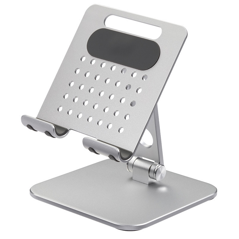 Universal Phone Stand Tablet Holder Foldable Portable Heightening Bracket For Ipad Mobile Phone Silver