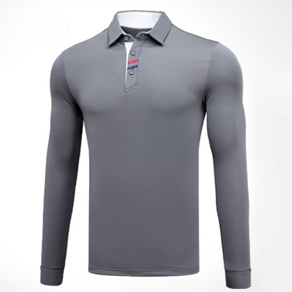 Golf Clothes Male Long Sleeve T-shirt Autumn Winter Clothes YF095 gray_L