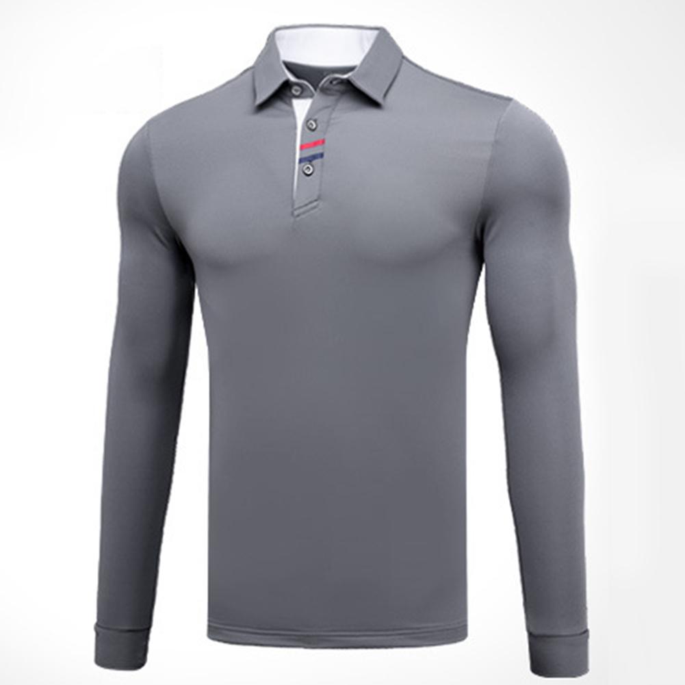 Golf Clothes Male Long Sleeve T-shirt Autumn Winter Clothes YF095 gray_XL