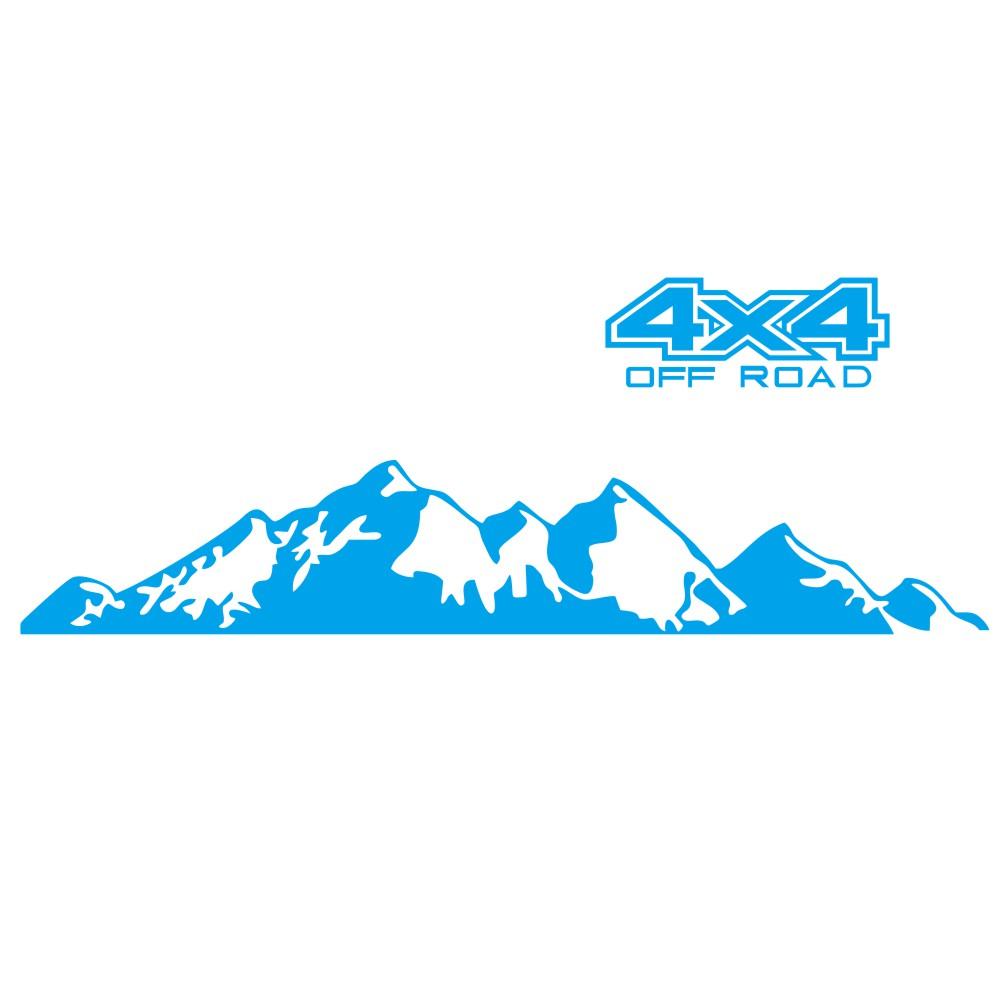 Car  Sticker 4x4 Off Road Graphic Vinyl Decal For Ford Ranger Raptor Pickup Isuzu Dma Nissan Navara Toyota Hilux Auto Accessories blue