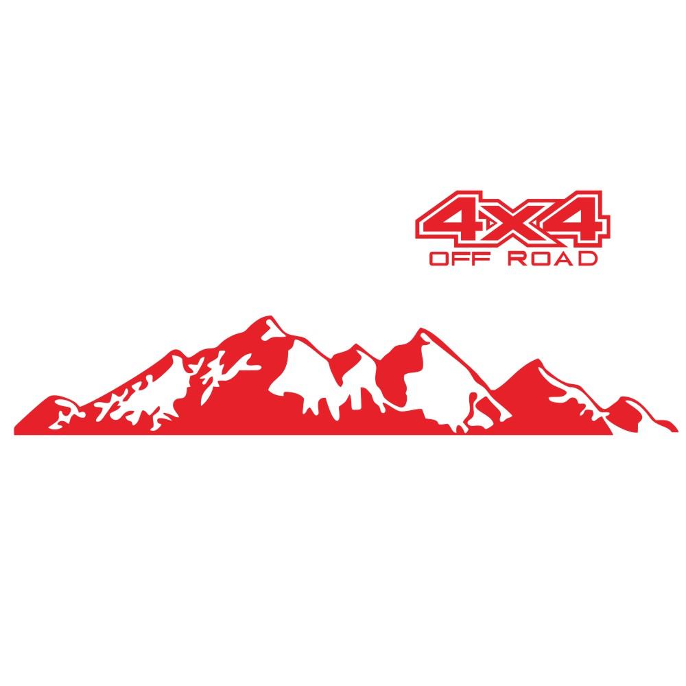 Car  Sticker 4x4 Off Road Graphic Vinyl Decal For Ford Ranger Raptor Pickup Isuzu Dma Nissan Navara Toyota Hilux Auto Accessories red