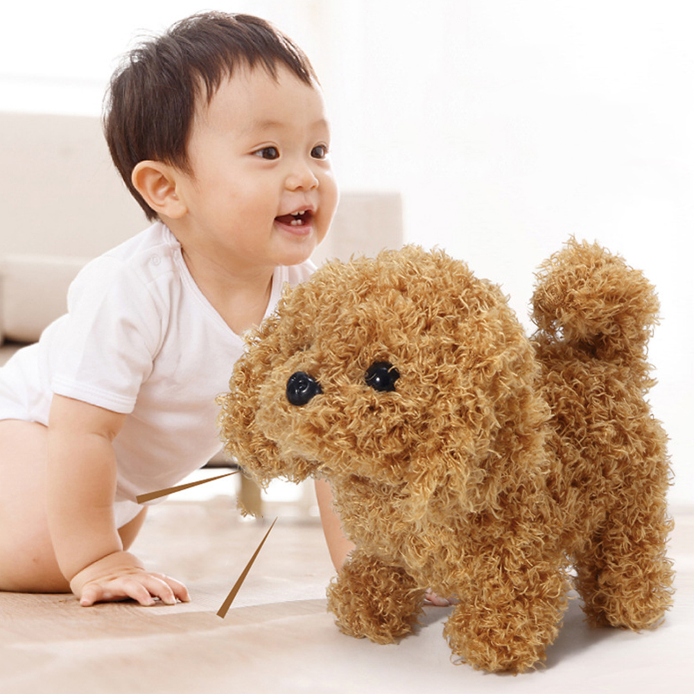 Children Electric Plush Toy Cute Simulation Puppy Plush Toys Electric Teddy