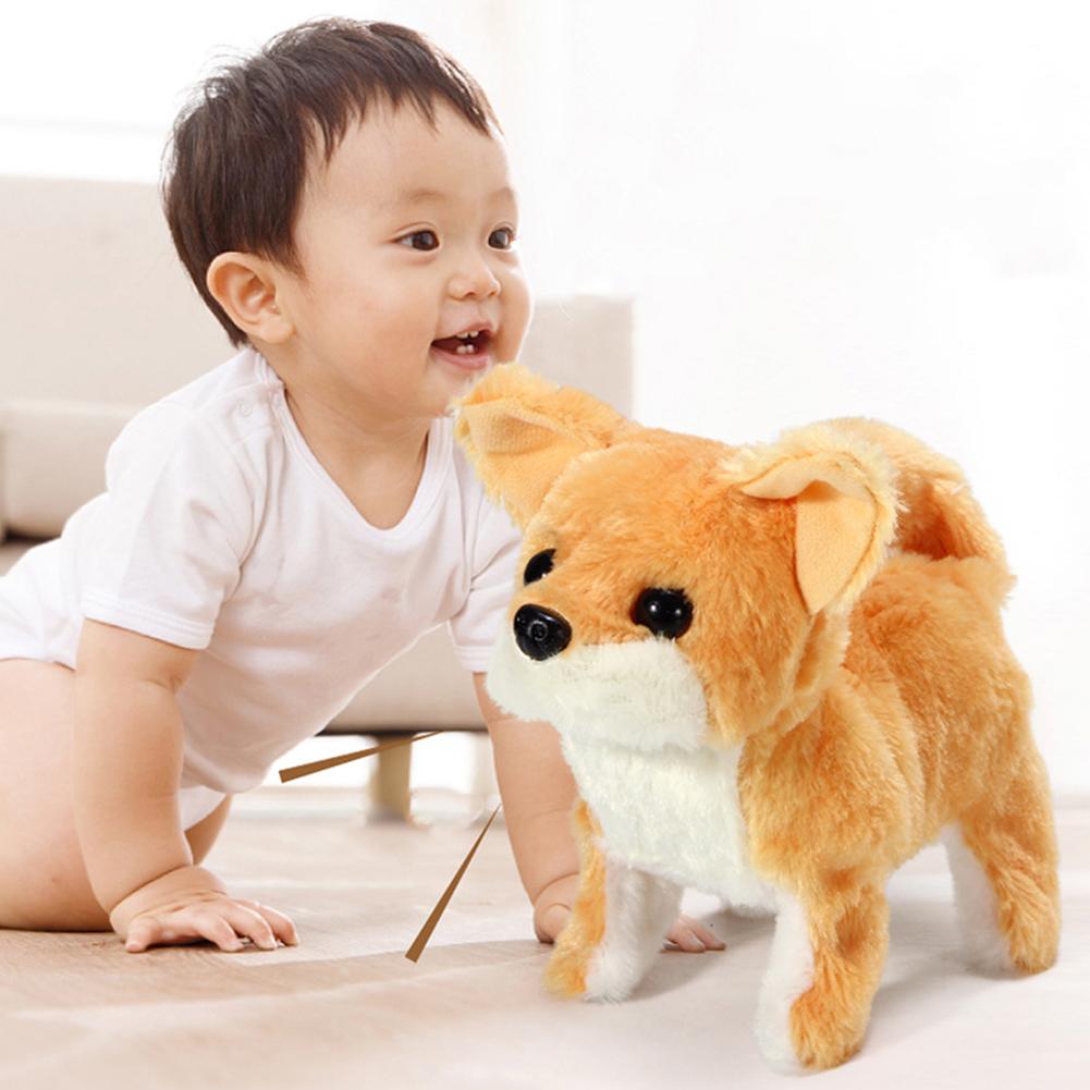 Children Electric Plush Toy Cute Simulation Puppy Plush Toys Electric Corgi