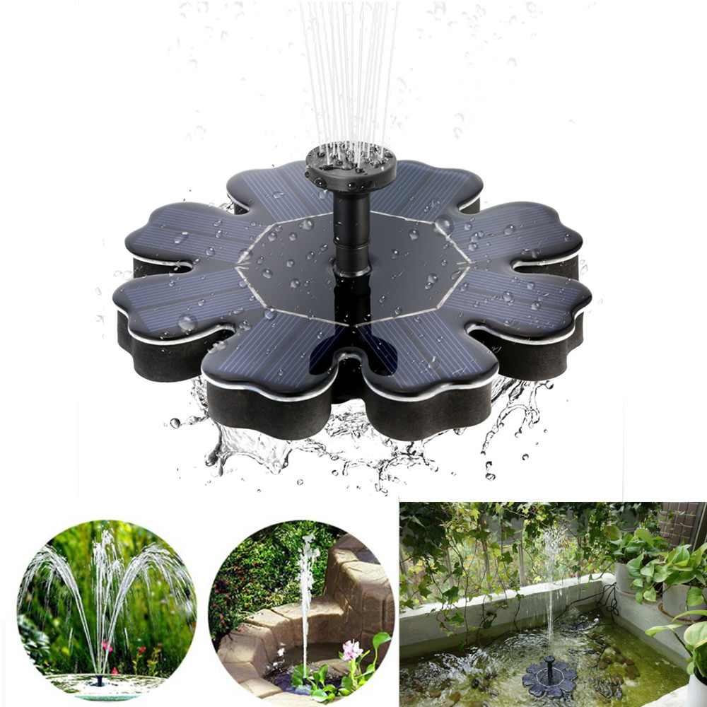 Petal Shaped Solar Water Fountain for Landscape Decoration QR-0525