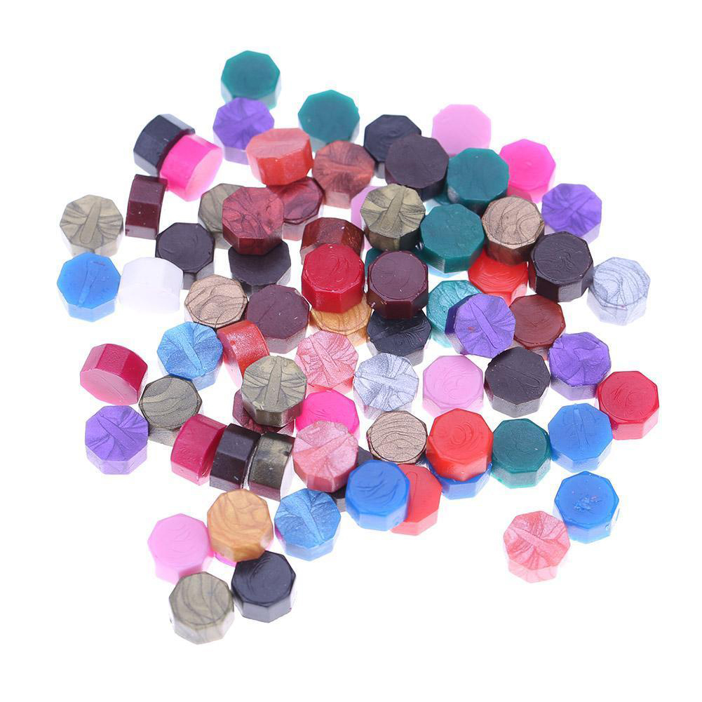 Octagon Sealing Wax Beads for Retro Seal Stamp Wedding Envelope Invitation Card mixed colors