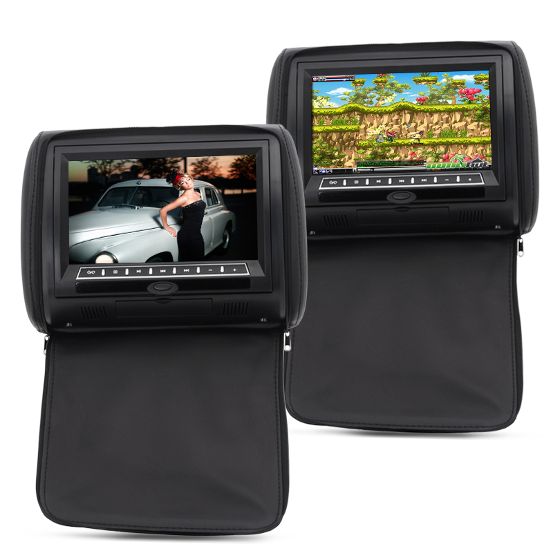 9 Inch Car Headrest Monitor with DVD Player (