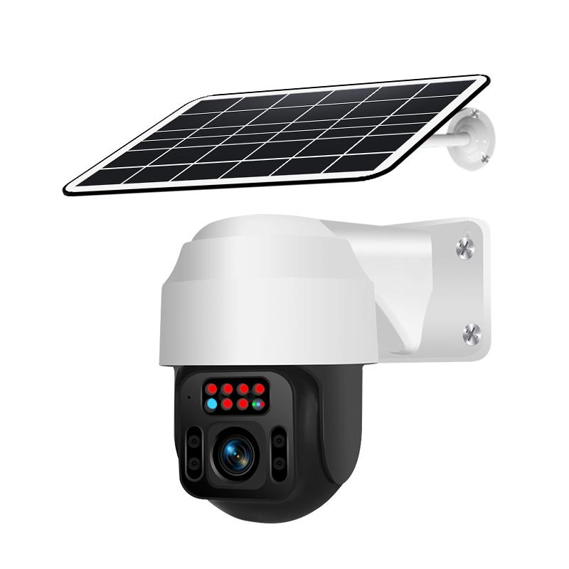Outdoor HD Monitor Camera Wireless Wifi Solar Battery Powered Camera Q2-WiFi Silver