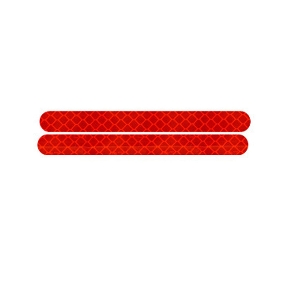 1 Pair Car Stickers Rearview Mirror Reflective Strip Anti-collision Warning Stickers Exterior Tape Reflective Strip Red