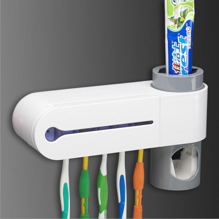 Creative Automatic Toothpaste Dispenser Set Toothbrush Holder Sterilizer Bathroom Accessories European Regulations