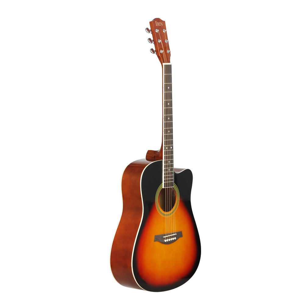 41inch Basswood Guitar Cutaway Guitar Wooden Fingerboard Acoustic Guitarra Musical Instrument Sunset color_No accessory