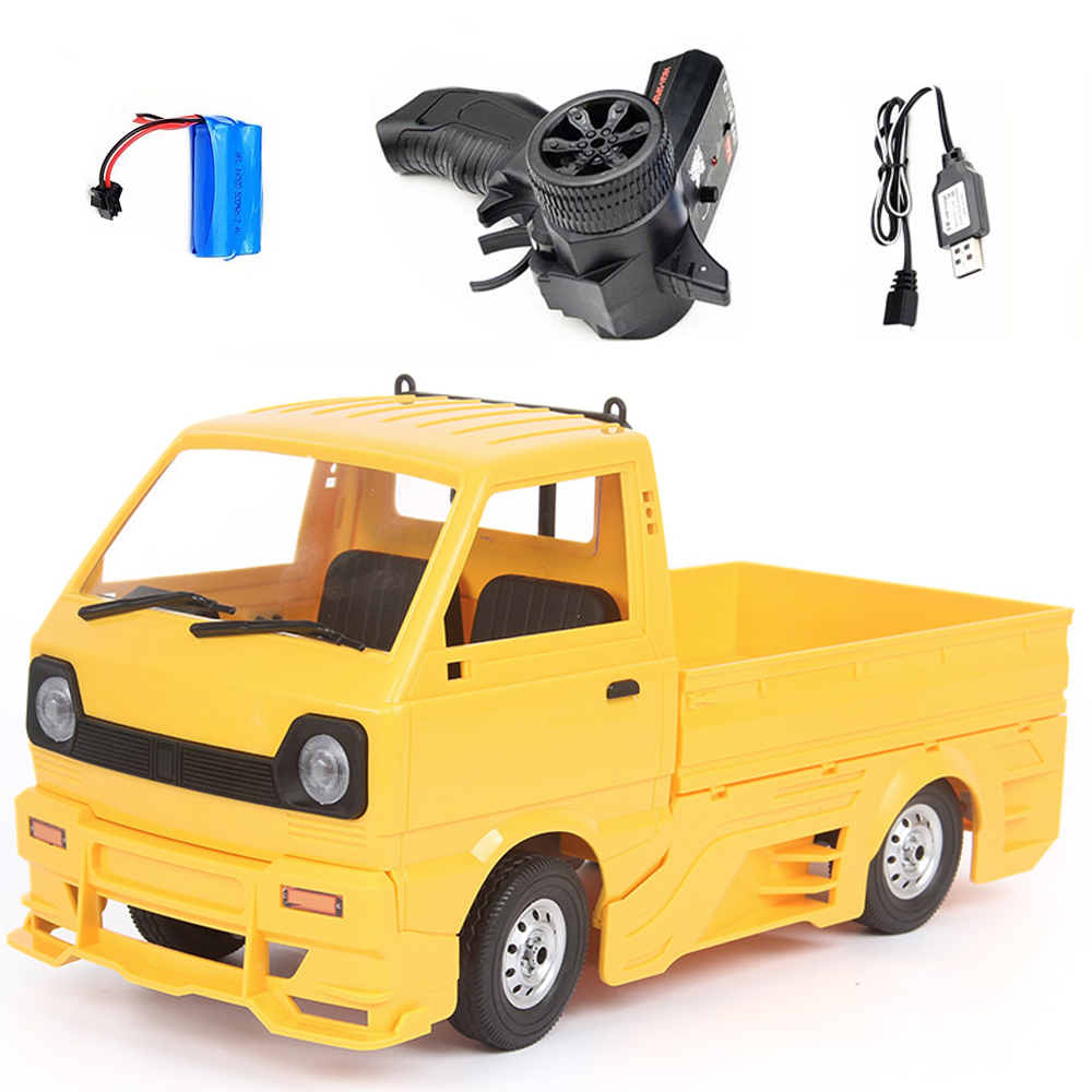 Wpl  New  Product  D12d 1/10 2.4g Off-road Climbing Drift Rc  Car Vehicle Models Toys With Large Surrounded & Blow Vent yellow