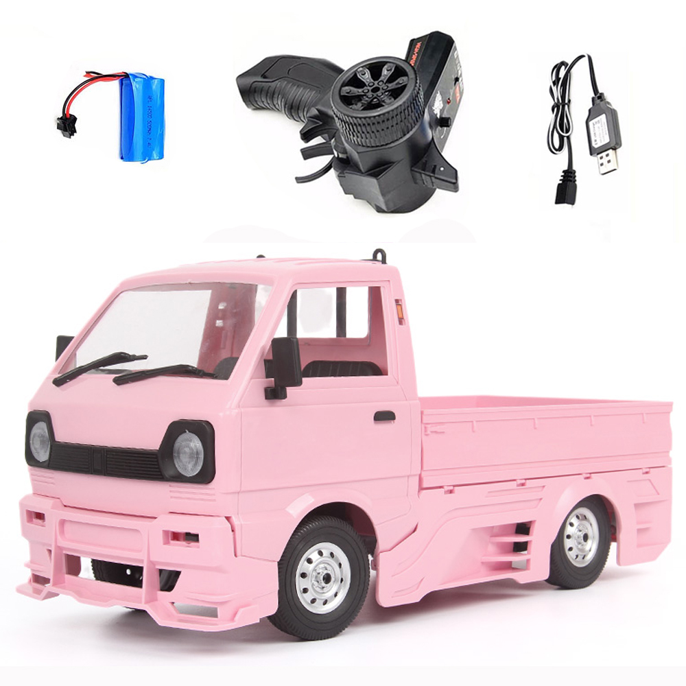 Wpl  New  Product  D12d 1/10 2.4g Off-road Climbing Drift Rc  Car Vehicle Models Toys With Large Surrounded & Blow Vent Pink