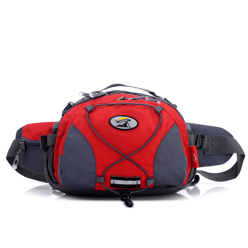 Unisex Outdoor Multifunctional Sports Fanny Pack Waterproof Single Shoulder Bag red_One size
